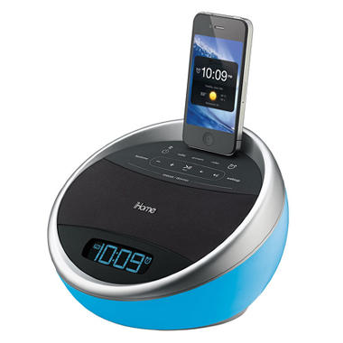 iHome App-enhanced Color Changing Stero FM Alarm Clock Radio for iPhone/iPod