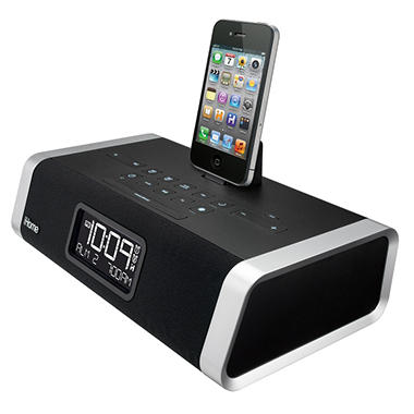 iHome App-enhanced Alarm Stereo Clock Radio for iPad/iPhone/iPod® with FM Presets