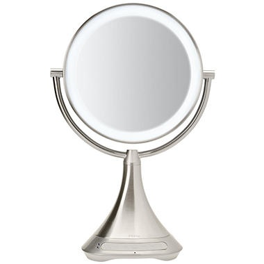 Ihome Portable Double Sided 9 Vanity Mirror With Bluetooth Speaker
