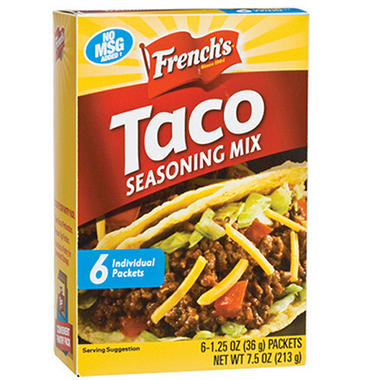 Taco seasoning package