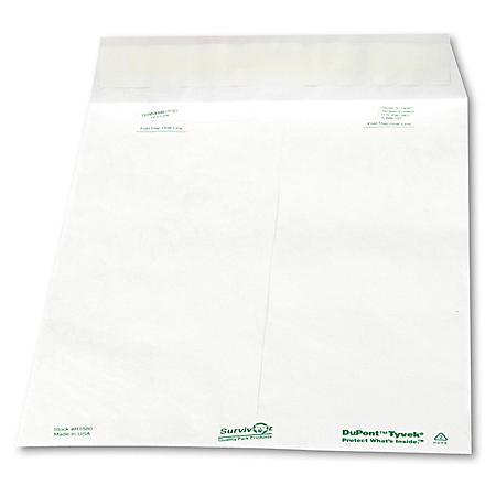 SURVIVOR - Tyvek Mailer, Side Seam, 10 x 13, White - 100/Box