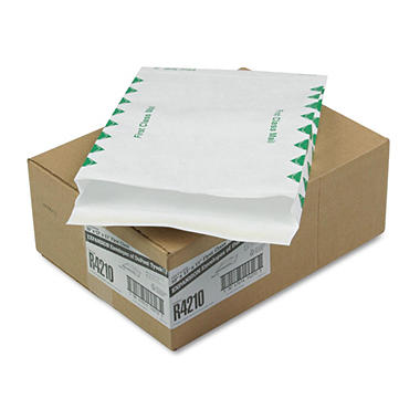 SURVIVOR - Tyvek Expansion Mailer, First Class, 10 x 13 x 1 1/2, White - 100/Carton
