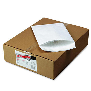 Quality Park - Tyvek Air Bubble Mailer, Self-Seal, Side Seam, 9 x 12, White, 25 per Box
