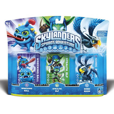 Skylanders 3 Character Pack: Stealth Elf, Sonic Boom, and Wrecking Ball