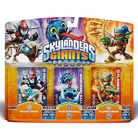 Skylanders Giants Triple Character Pack - Fright Rider - Wrecking Ball - Flameslinger