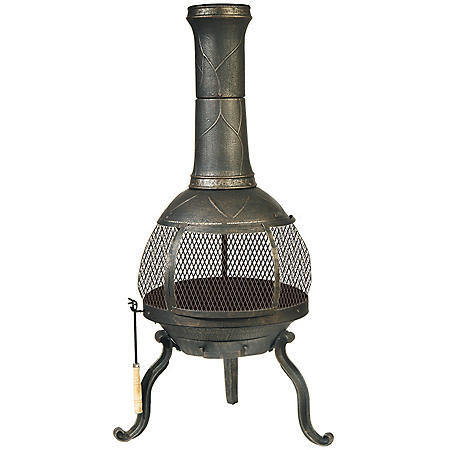Sonora Chimenea Wood Buning Outdoor Fireplace