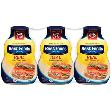 Best Foods Real Mayonnaise (22 oz. ea, 3 pk.)