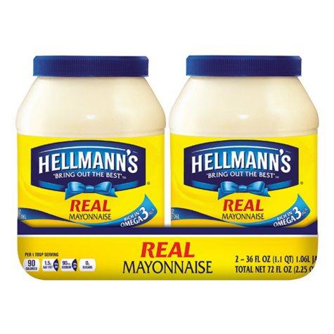 Hellmann's Real Mayonnaise (36 oz., 2 pk.)