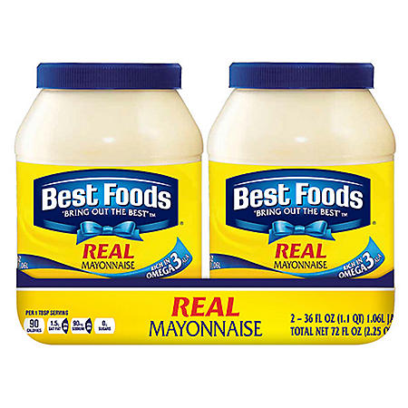 Best Foods Real Mayonnaise (36 oz., 2 pk.)