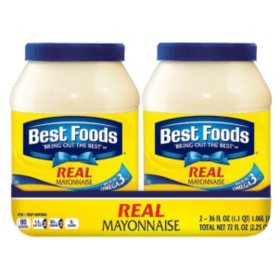 Best Foods Real Mayonnaise (36 oz., 2 ct.)