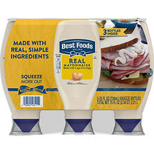 Best Foods Mayonnaise Squeeze Bottles (25 oz., 3 ct.)