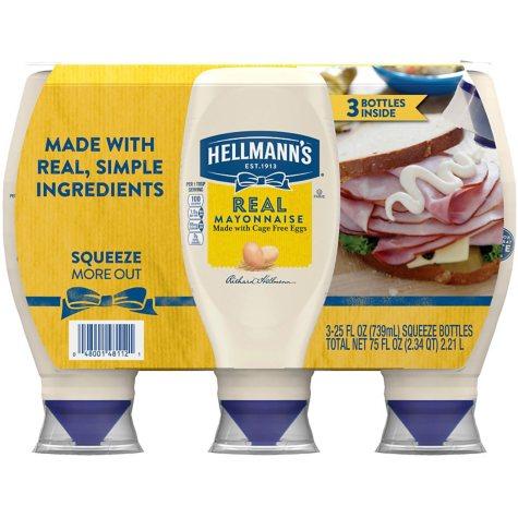 Hellmann's Real Mayonnaise (25 oz., 3 ct.)