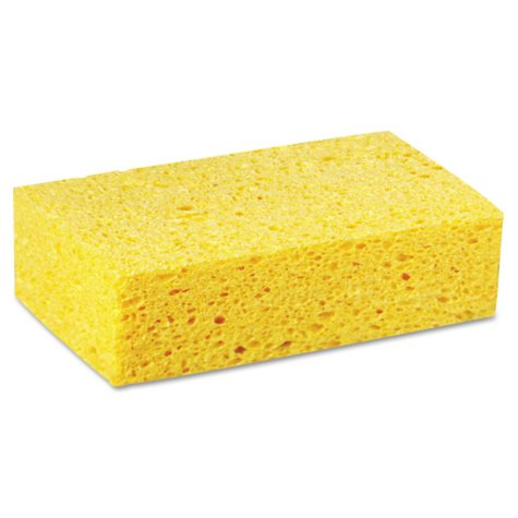 Premiere Pads - Large Cellulose Sponge, 4 3/10 x 7 4/5, Yellow -  24/Carton