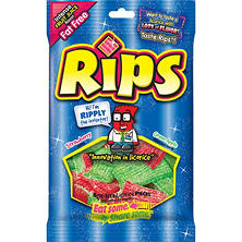 Rips Bite-Size Strawberry Green Apple Licorice Pieces (4 oz.)