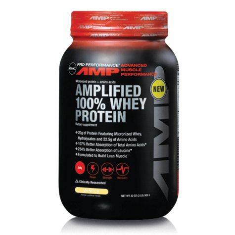 GNC Pro Performance AMP Amplified 100% Whey Protein - Vanilla - 32 oz.