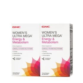 GNC Women's Ultra Mega Energy & Metabolism Multivitamin (180 ct.)
