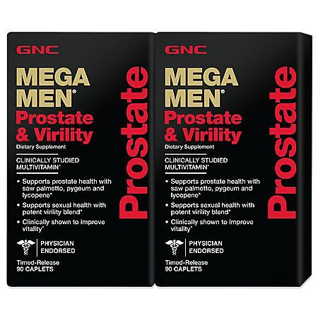 GNC Mega Men Prostate & Virility - 90 ct. - 2 pk.