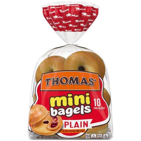 Thomas Mini Plain Bagels (10 ct., 15 oz.)