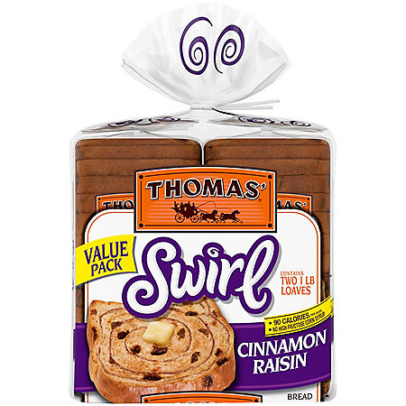Thomas' Swirl Cinnamon Raisin Bread (16oz / 2pk)