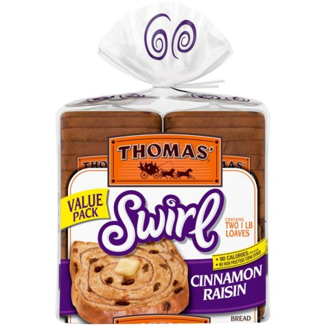 Thomas' Swirl Cinnamon Raisin Bread (2 pk., 32 oz.)