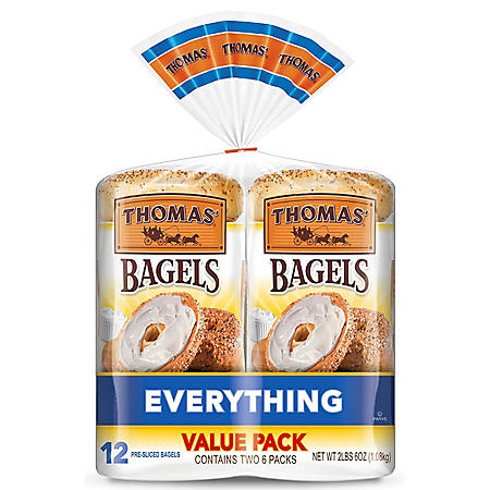 Thomas' Everything Soft and Chewy Bagels (12 ct.)