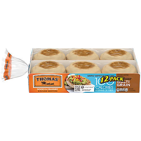 Thomas' Light Multigrain English Muffins (12pk)