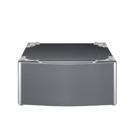 LG - Laundry Pedestal - WDP4V Graphite Steel