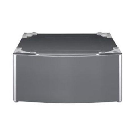 LG - Laundry Pedestal - WDP5V Graphite Steel