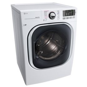 LG 7.4 cu. ft. Ultra-Large Capacity TurboSteam Electric Dryer - DLEX4370W White