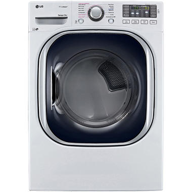 LG 7.4 cu. ft. Ultra-Large Capacity TurboSteam Gas Dryer - DLGX4371W White