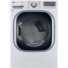 LG 7.4 cu. ft. Ultra-Large Capacity TurboSteam Gas Dryer - DLGX4371W White