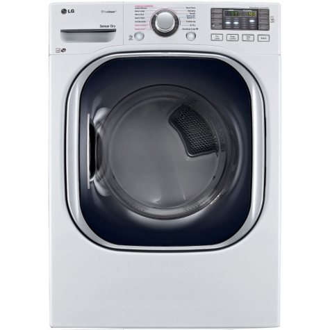 LG - 7.4 cu. ft. Ultra-Large Capacity TurboSteam Gas Dryer - DLGX4371W White