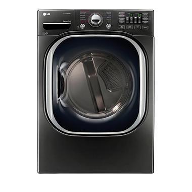 Lg 7 4 Cu Ft Ultra Large Capacity Turbosteam Electric Dryer Dlex4370k Black