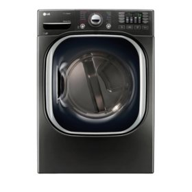 LG 7.4 cu. ft. Ultra-Large Capacity TurboSteam Gas Dryer - DLGX4371K Black Stainless Steel