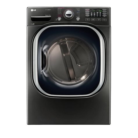 LG 7.4 cu. ft. Ultra-Large Capacity TurboSteam Gas Dryer - DLGX4371K Black Stainless Steel