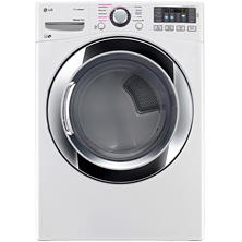 LG 7.4 cu. ft. Ultra-Large Capacity SteamDryer with NFC Tag-On Technology - DLEX3370W White