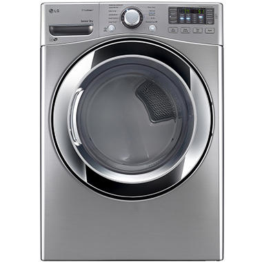 LG 7.4 cu. ft. Ultra-Large Capacity SteamDryer with NFC Tag-On Technology - DLEX3370V Graphite Steel