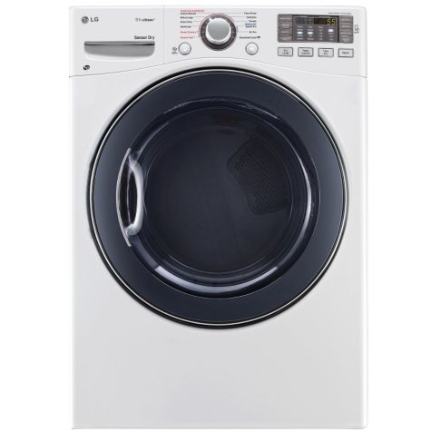 LG 7.4 cu. ft. Ultra-Large Capacity SteamDryer with NFC Tag-On Technology - DLEX3570W White