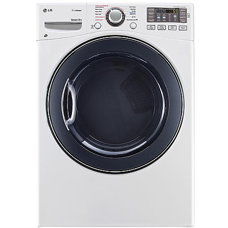 LG - 7.4 cu. ft. Ultra-Large Capacity SteamDryer with NFC Tag-On Technology - DLGX3571W White