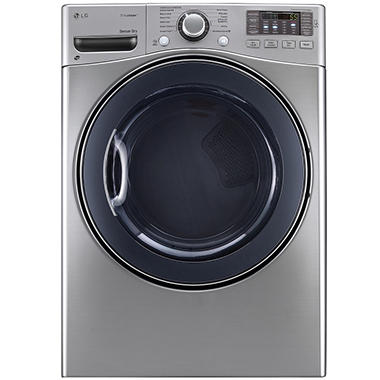LG 7.4 cu. ft. Ultra-Large-Capacity SteamDryer with NFC Tag On Technology - DLEX3570V Graphite Steel