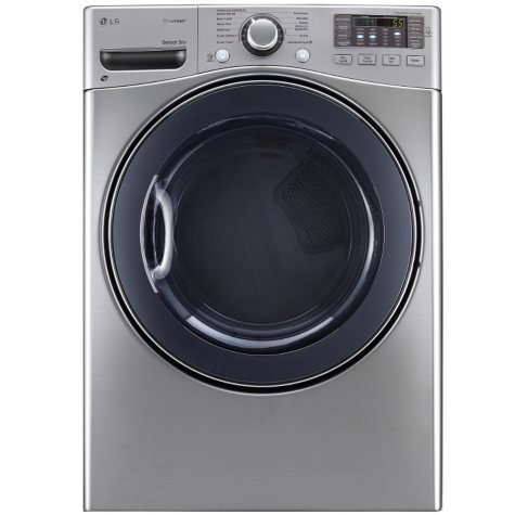 LG - 7.4 cu. ft. Ultra-Large-Capacity SteamDryer with NFC Tag On Technology - DLEX3570V Graphite Steel