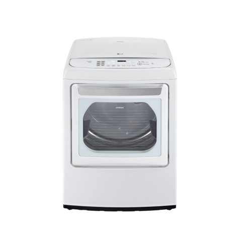 LG 7.3 cu. ft. Ultra-Large Capacity High-Efficiency Front-Control SteamDryer with EasyLoad Door - DLGY1702WE White