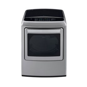 LG 7.3 cu. ft. Ultra-Large-Capacity High-Efficiency Front-Control Steam Dryer with EasyLoad Door - DLGY1702VE Graphite Steel