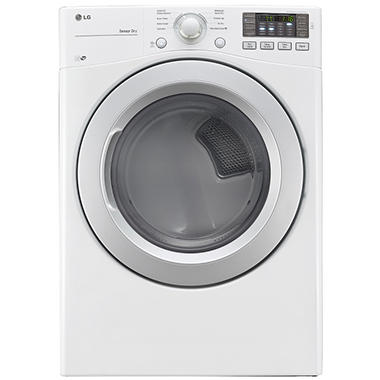 LG 7.4 cu. ft. Ultra-Large-Capacity Dryer with NFC Tag On Technology - DLE3170W White
