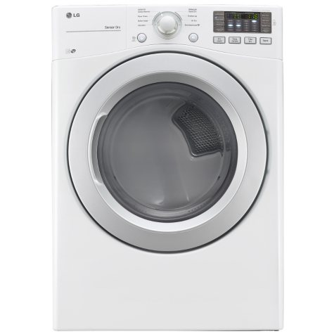 LG - 7.4 cu. ft. Ultra-Large-Capacity Dryer with NFC Tag On Technology - DLE3170W White