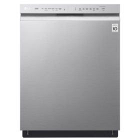 LG Front-Control Dishwasher with QuadWash and EasyRack Plus - LDF5545ST Stainless Steel