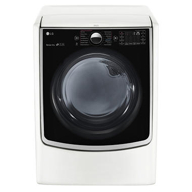 LG 7.4 cu.ft. Ultra-Large Capacity TurboSteam Electric Dryer with On-Door Control Panel - DLEX5000W White