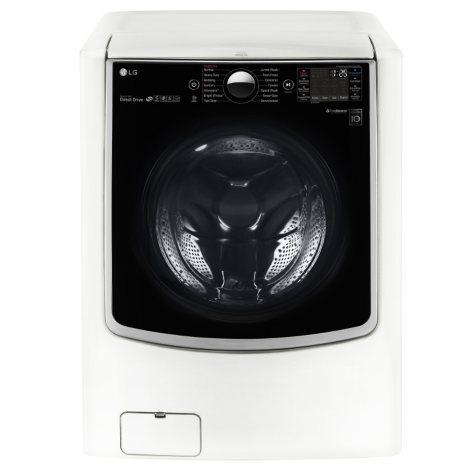 LG - 5.2 cu.ft. Mega-Capacity with On-Door Control Panel and TurboWash - WM9000HWA White