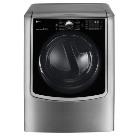 LG 9.0 cu.ft. Mega-Capacity TurboSteam Electric Dryer with On-Door Control Panel - DLEX9000V Graphite Steel