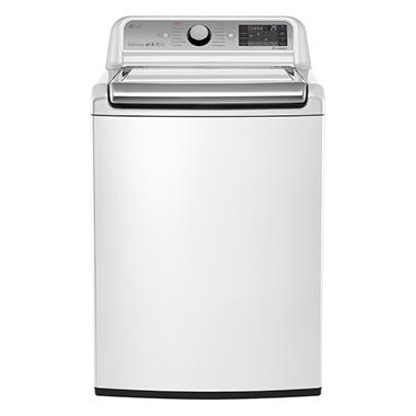 LG 5.2 cu. ft. Mega-Capacity Top-Load Washer with Turbowash Technology - WT7600HWA White